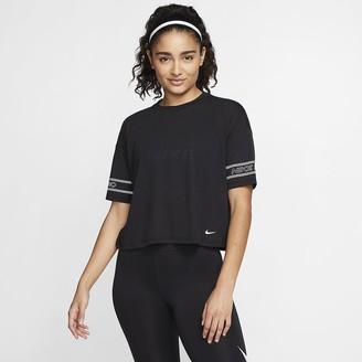 Nike Women's Graphic Short-Sleeve Top Pro
