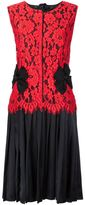 Marc Jacobs pleated floral lace dress - women - Nylon/Rayon - 6