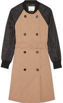 3.1 Phillip Lim Cotton-gabardine And Shell Trench Coat - Sand