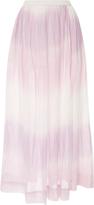 Lemlem Berhan Degrade Cotton-Gauze Maxi Skirt