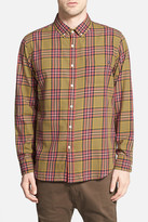 Obey &Bowen& Trim Fit Woven Plaid Shirt