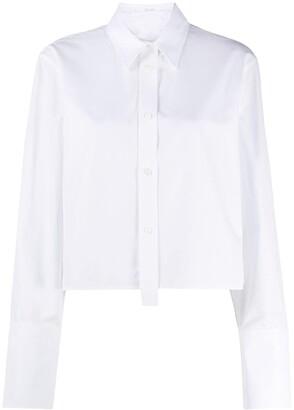 Helmut Lang Long Sleeve Cropped Shirt