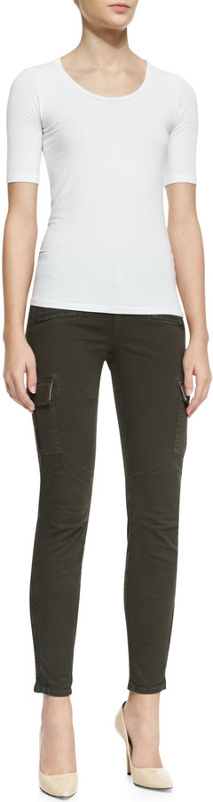 J Brand Jeans Grayson Skinny Luxe Twill Cargo Pants, Mantis