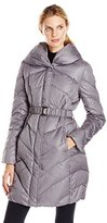T Tahari Women's Maria Down Coat with Belt