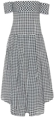 KHAITE Exclusive to Mytheresa Amanda gingham midi dress
