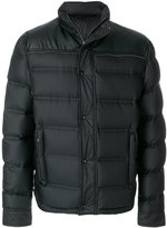 Just Cavalli faux leather detail puffer jacket