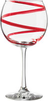 Libbey Red Swirl Set of 4 Wine Glasses