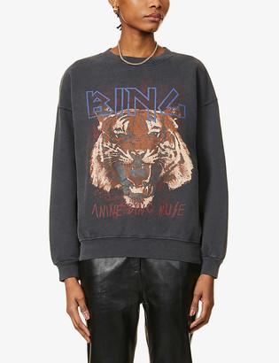 Anine Bing Tiger graphic-print cotton-jersey sweatshirt