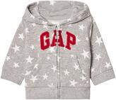 Gap Grey Star Print Logo Hoodie