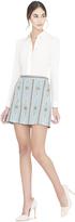 Alice + Olivia Riley Embellished Aline Short Skirt