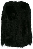 RtA fur effect coat - women - Cotton/Acrylic/Modacrylic/Polyester - XS