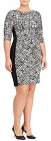 Lauren Ralph Lauren Plus Size Women's Print Jersey Sheath Dress