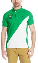 U.S. Polo Assn. Men's 125th Anniversary Diagonal-Blocked Polo Shirt
