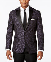 Ryan Seacrest Distinction Ryan Seacrest DistinctionTM Men's Slim-Fit Black/Navy Camouflage Dinner Jacket, Only at Macy's