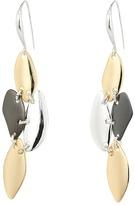 Robert Lee Morris Tri-Tone Chandelier Earrings