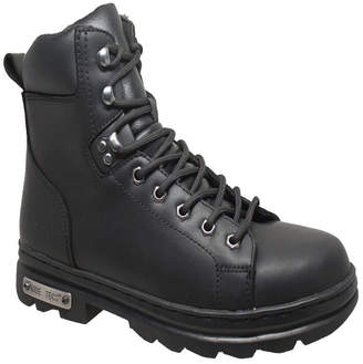 """AdTec Men 6"""" Zipper Lace Biker Boot Men Shoes"""