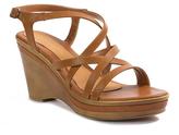 Pierre Dumas Tan Divine Wedge Sandal
