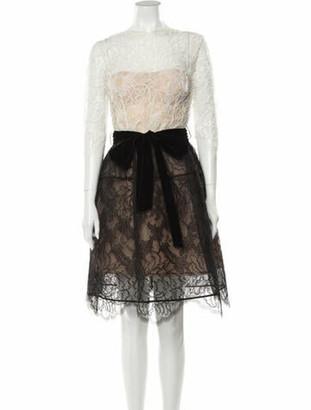 Oscar de la Renta 2017 Knee-Length Dress White