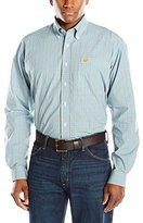 Cinch Baby Blue Plaid Long Sleeve Shirt