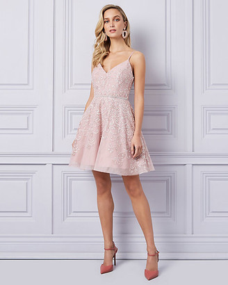 Le Château Embellished Mesh High-Low Dress