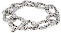 John Hardy Kali Pebbled Flat Link Bracelet, Size Medium