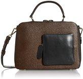 Orla Kiely Textured Leather Shoulder Bag