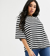 Asos DESIGN Curve oversized boxy t-shirt in stripe