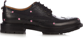 Gucci Floral-embroidered leather brogues