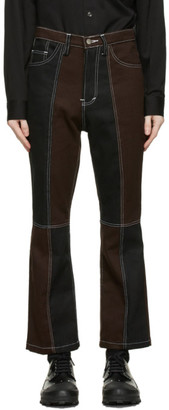 Youths in Balaclava Black and Brown Panel Jeans