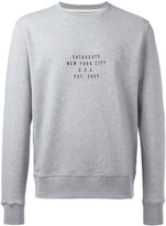 Saturdays NYC slogan print sweatshirt - men - Cotton - M
