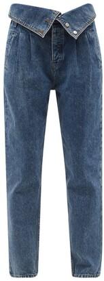 RE/DONE 80s Fold-over Straight-leg Jeans - Denim