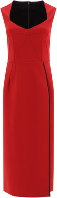 Dolce & Gabbana MIDI SHEATH DRESS 44 Red, Black