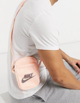 Nike Heritage cross body bag in pale pink