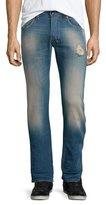 Diesel Safado 0854V Distressed Denim Jeans, Medium Blue