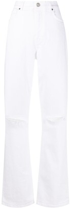 Etro Distressed Straight-Leg Jeans