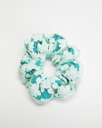 Lele Sadoughi Floral Lace Oversized Scrunchie