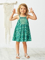 Vertbaudet Girls Sleeveless Crepon Dress