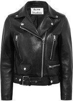 Acne Studios Leather Biker Jacket - Black