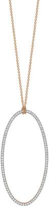 ginette_ny 18k Rose Gold Jumbo Eclipse White Diamond Necklace