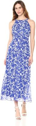 Ronni Nicole Women's Sleevless Printed Yoryu Maxi