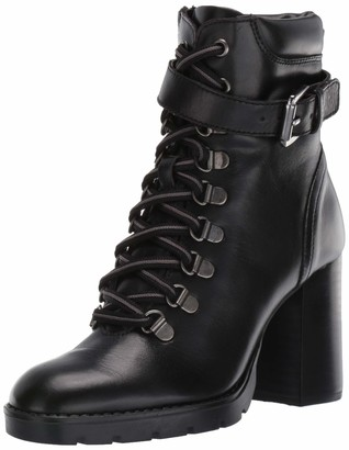 Kenneth Cole New York Women's Santiago Heeled Moto Boot Combat