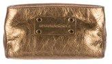 Burberry Metallic Leather Clutch
