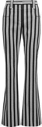 Altuzarra Striped Stretch Wool And Cotton-Blend Flared Pants