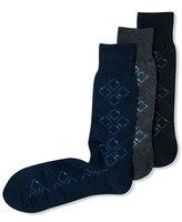 Perry Ellis Men's Socks, Mercerized Cotton Arglye Dress Crew Socks