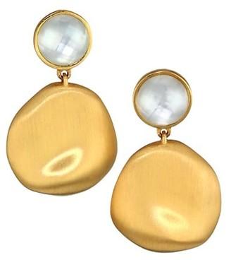 Dean Davidson 22K Goldplated & Mother-Of-Pearl Doublet Drop Earrings