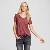 Mossimo Women's Short Sleeve Relaxed V-Neck Tee