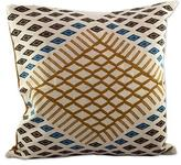 Hand Woven Tan Spice Cotton Cushion Cover from Guatemala, 'Sands of Izabal'