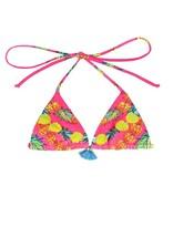 Mara Hoffman Garlands print triangle bikini top