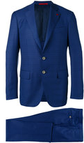 Isaia checked dinner suit - men - Cupro/Wool - 48