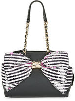 Betsey Johnson Bow-Accented Faux Leather Satchel